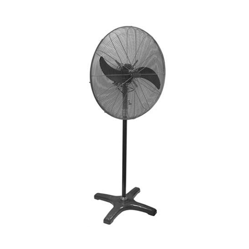 LARGE BLACK PEDESTAL FLOOR FAN 650mm